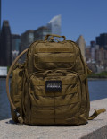 Advanced Operative Bug Out Bag with New York Skyline Background