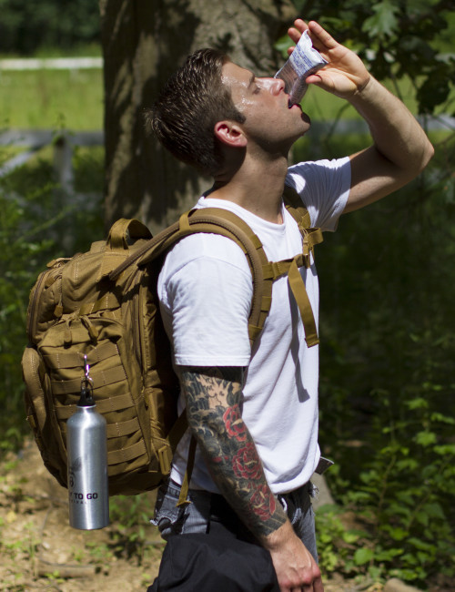 Advanced Operative Bug Out Bag in use by model