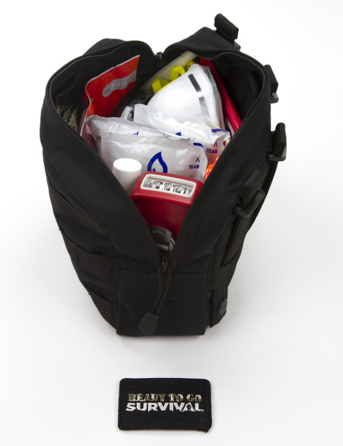 Side view of EDC kit on white background