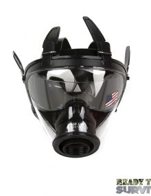 Mestel SGE 150 Chemical Gas Mask Top View on White Background