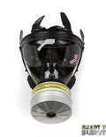 Mestel SGE 400/3 Military Gas Mask Top View with a2b2e2k2p3 Filter