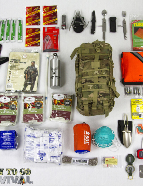 Top View of Tactical Traveler Survival Kit