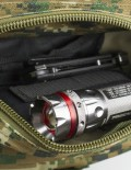 Front Pocket of Tactical Traveler Survival Kit with Flashlight