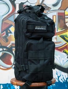 The Ultimate Urban Survival Kit with Graffiti Background