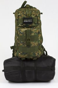 Bug Out Bag on White Background