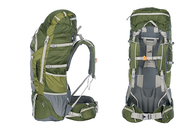 Alps Mountaineering Caldera 5500 hiking backpack on white background