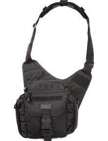 Front View of 5.11 Rush Push Pack Black on White Background